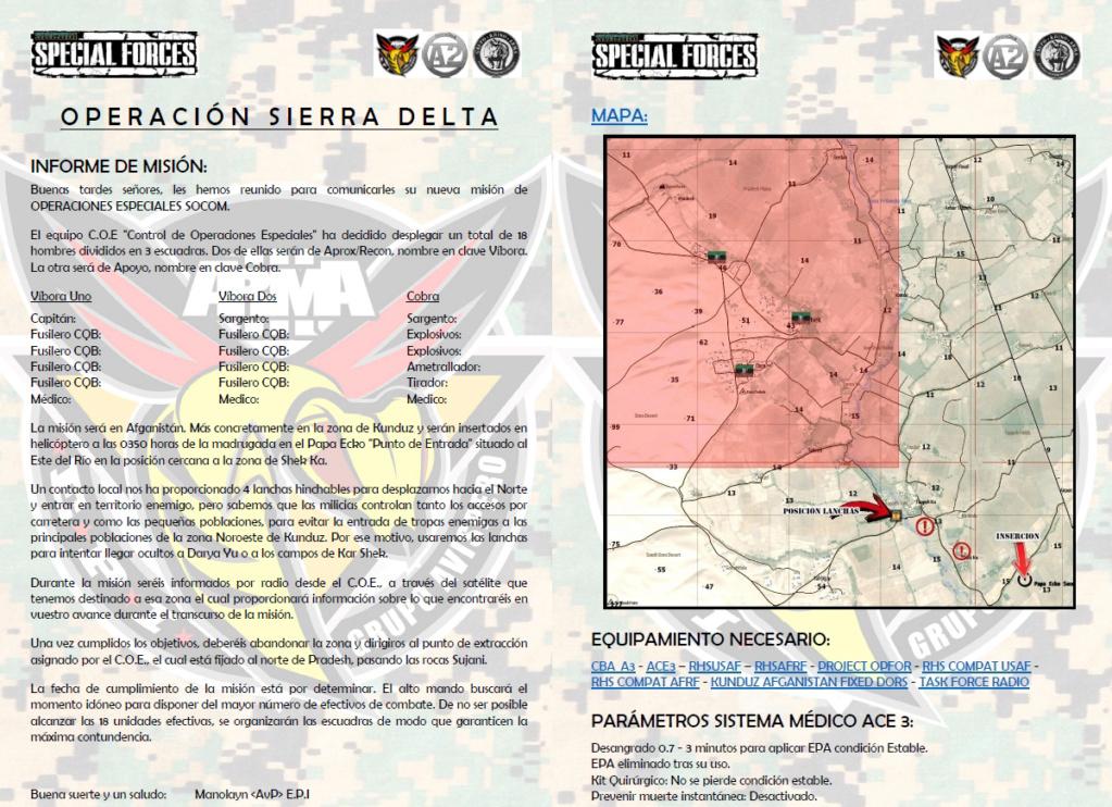 "6 de Julio 2018 Operacion ""SIERRA DELTA"" Multiclan SQUAD. Brieff10"