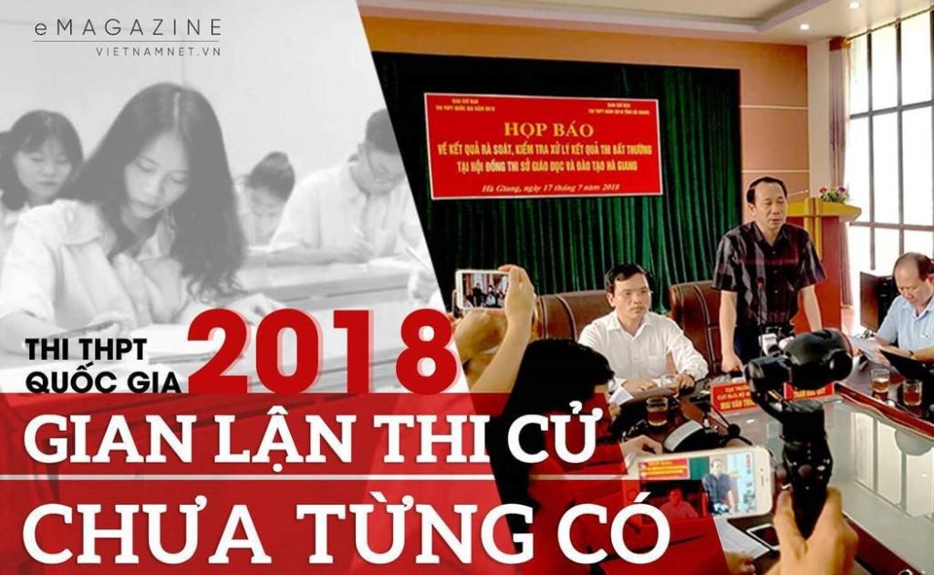 Phù phép điểm thi ở Hà Giang Gianla10