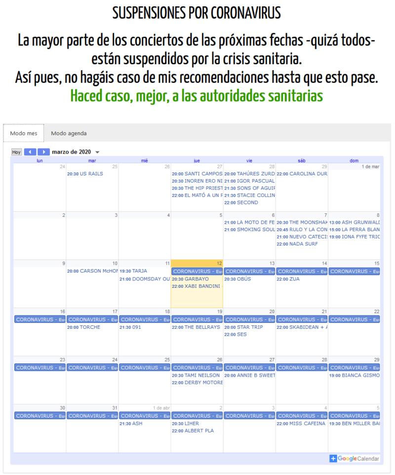 CULTURA ROCKERA 3.0. Si las giras se siguen haciendo en Euskadi es porque funcionan. - Página 10 Agenda10
