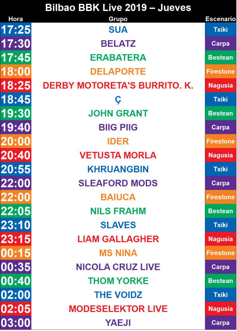 BBK LIVE 2019 (11, 12 y 13 DE JULIO). Y por fin Weezer!!!! - Página 17 Bilbao11