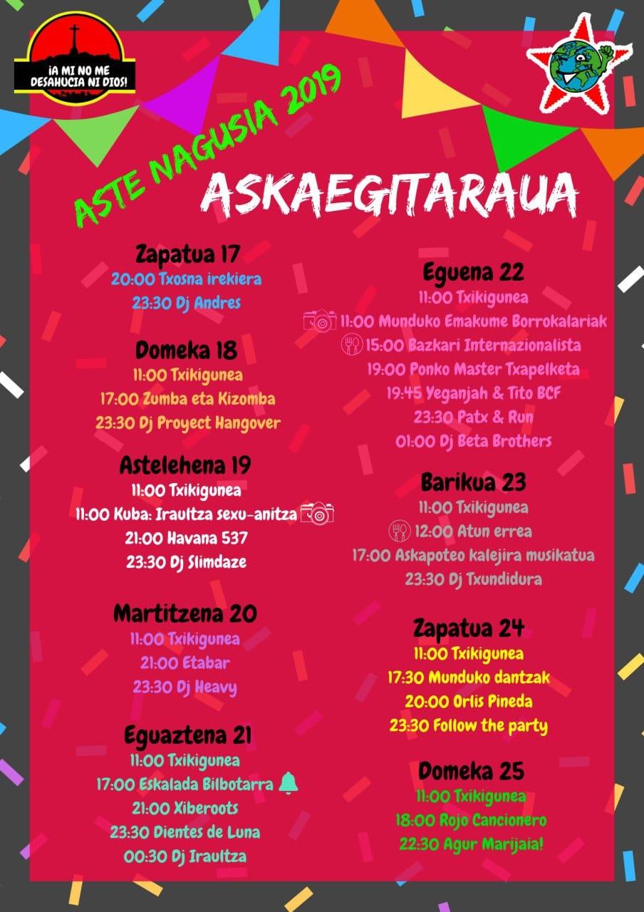 BILBOKO ASTE NAGUSIA 2019 - Conciertos Bilbok13