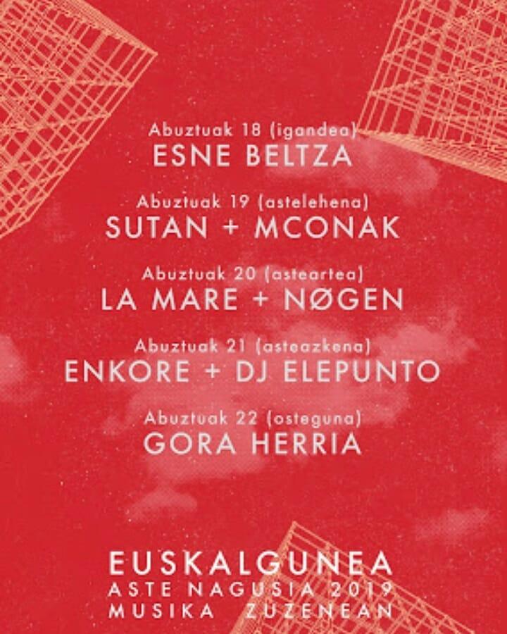 BILBOKO ASTE NAGUSIA 2019 - Conciertos Bilbok16