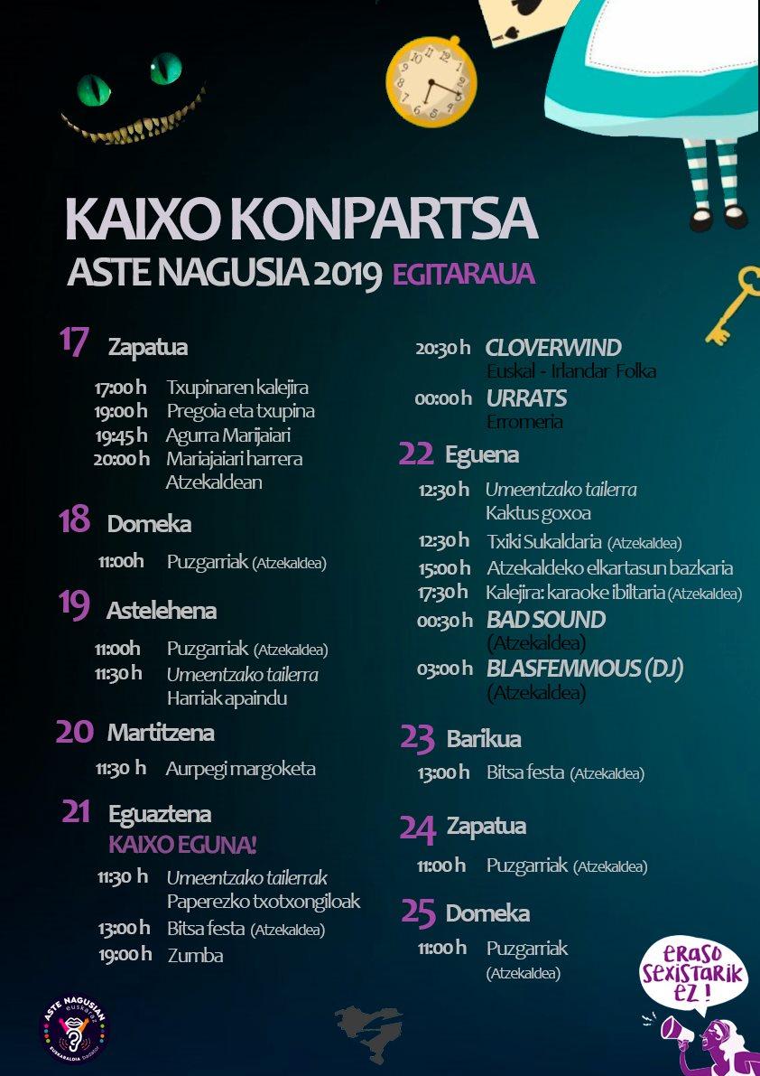 BILBOKO ASTE NAGUSIA 2019 - Conciertos Bilbok20