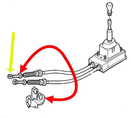 [ Citroën Grand C4 an 2008 ] Comment démonter la tringlerie du levier de vitesse ? 00_sch10