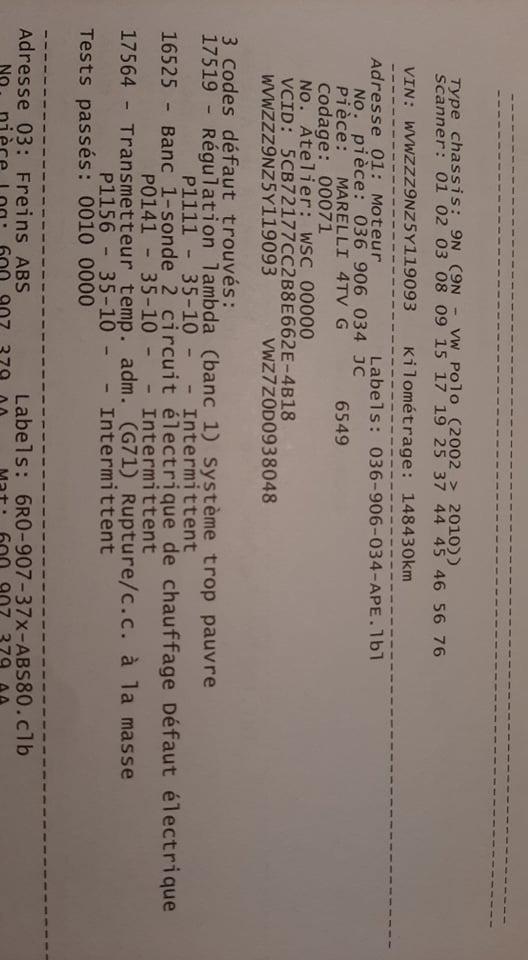 [ VW polo 9n 1.4 16v an 2005 ] coupure moteur 21947010