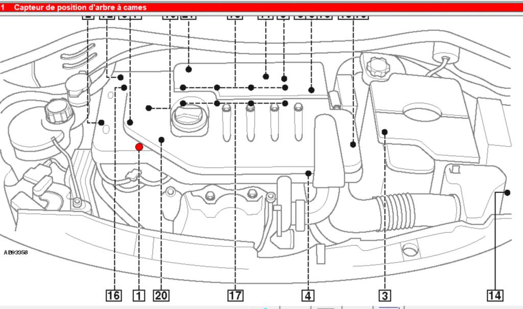 [ Peugeot 207 1.4 hdi an 2011 ] Position capteur arbre à cames Capteu11