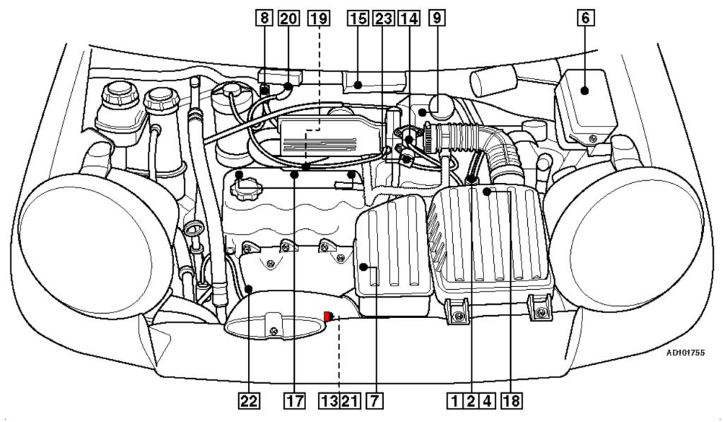 [ Daewoo matiz an 2000 ] Position sonde lambda Matiz10