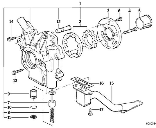 [ BMW E36 M51 an 1998 ] Contrôle pompe à huile Pompe_10