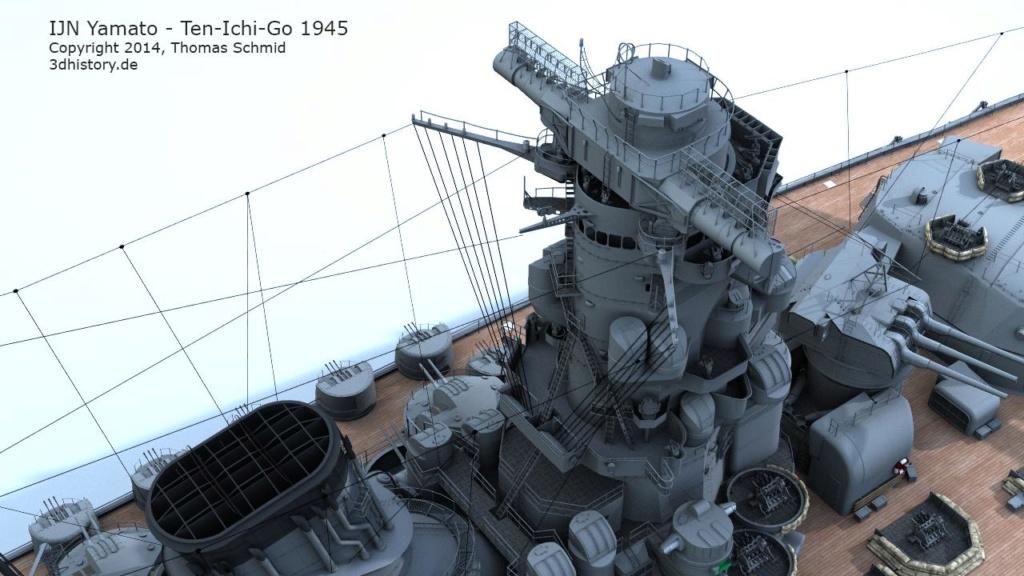 Mon YAMATO 1/350 +PE+Pont Tamiya  - Page 2 Yamato15