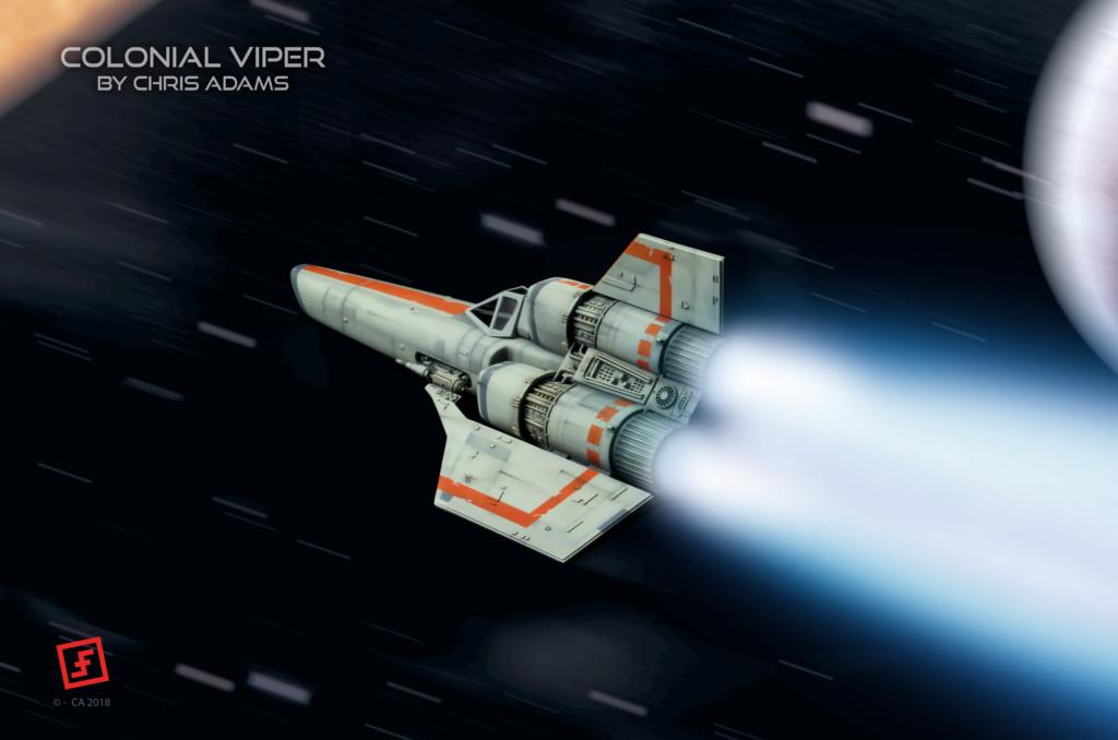Colonial Viper - Battlestar Galactica - Monogram Galact46