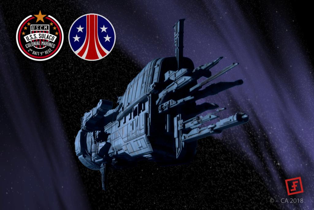 USS Sulaco - Aliens - 1/2400 Halcyon-Aoshima Sulaco10