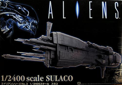 USS Sulaco - Aliens - 1/2400 Halcyon-Aoshima Sulaco18