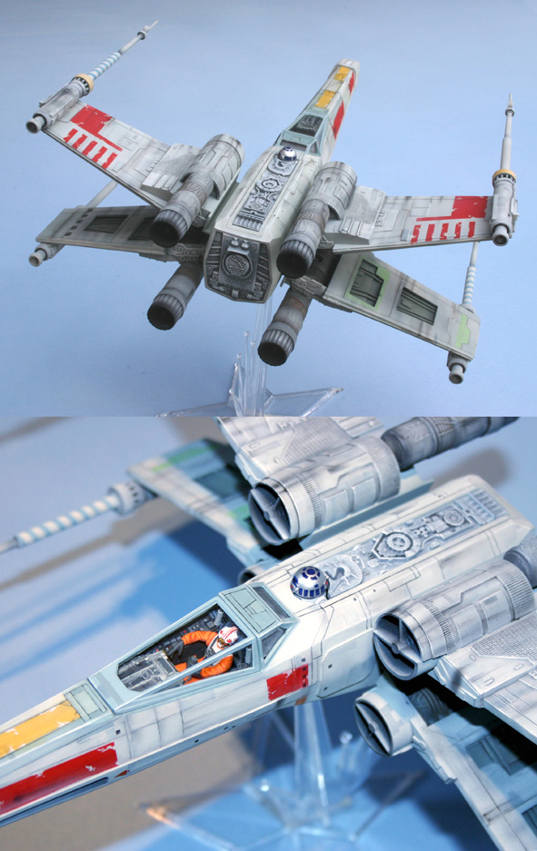 X-wing - Airfix - Return of the Jedi - Vintage model X-wing11