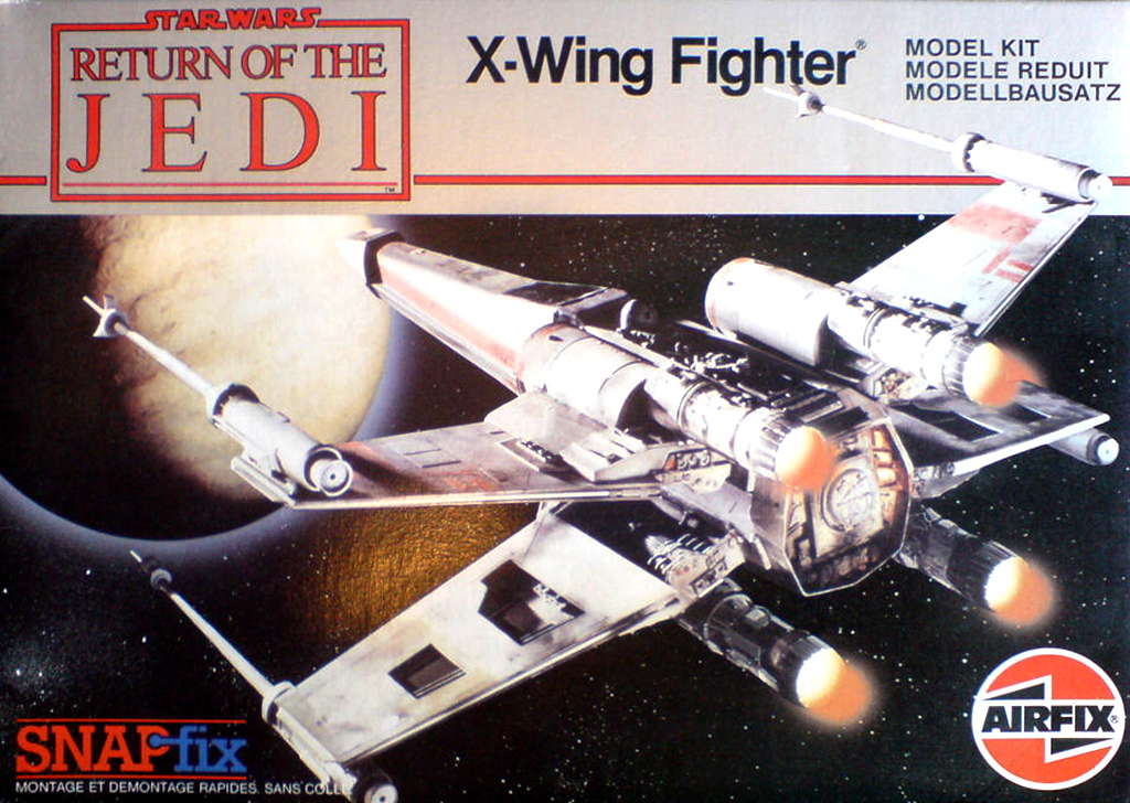 X-wing - Airfix - Return of the Jedi - Vintage model X-wing12