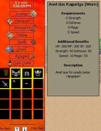 Pedido sistema de descrição de item! Evolut10