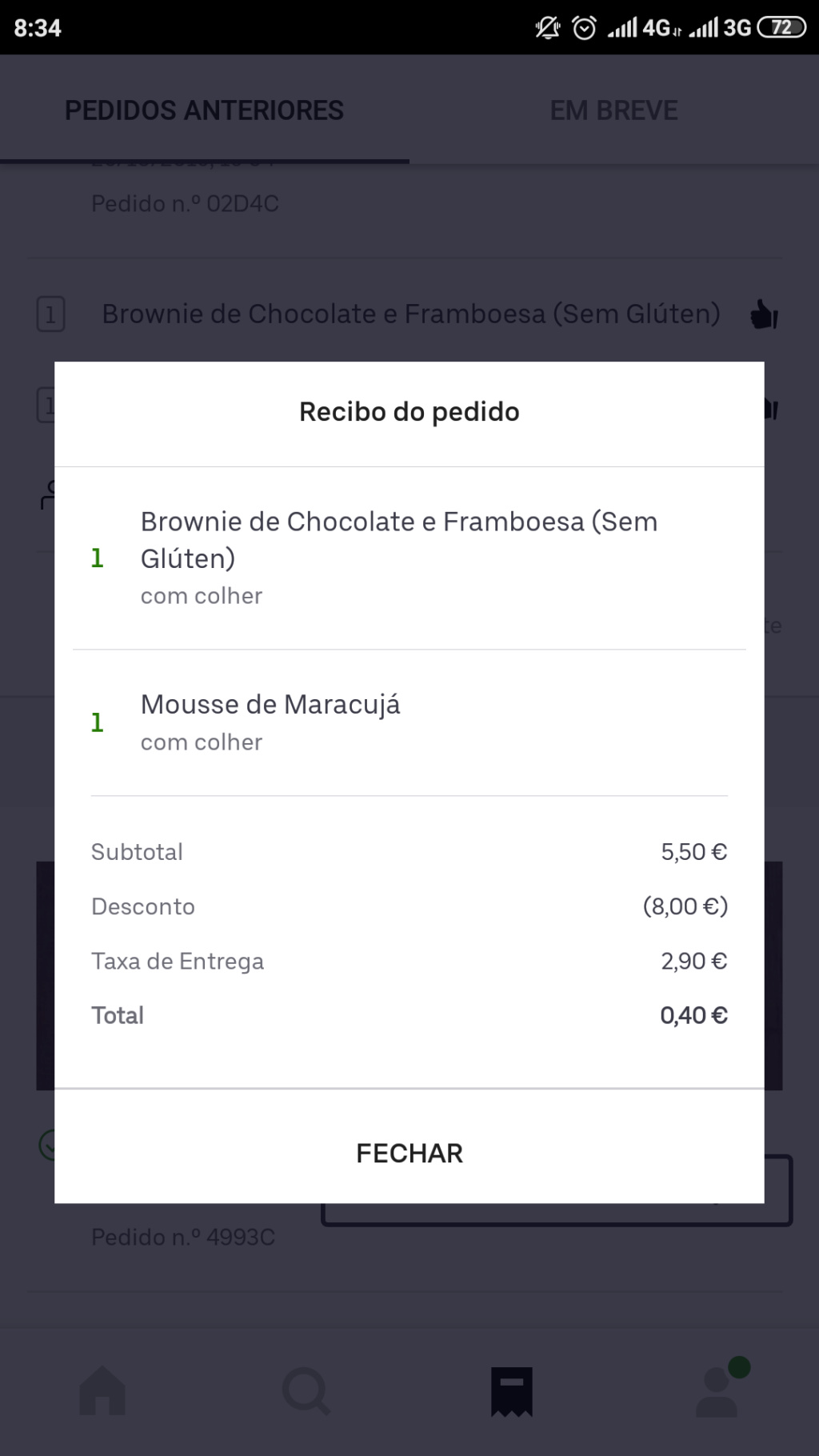 OPORTUNIDADE - [PROVADO] Ganha8€ UberEats Screen19