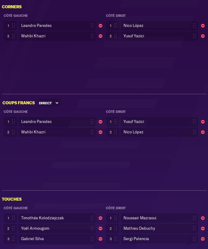 Tireurs CF,Corners ,touches et Penalty Footba19