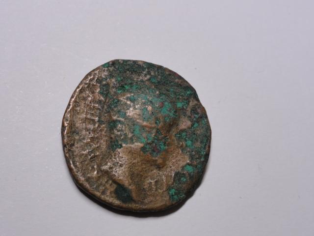As de Segobriga, época de Tiberio. SEGO-BRIGA dentro de corona. Dsc06011
