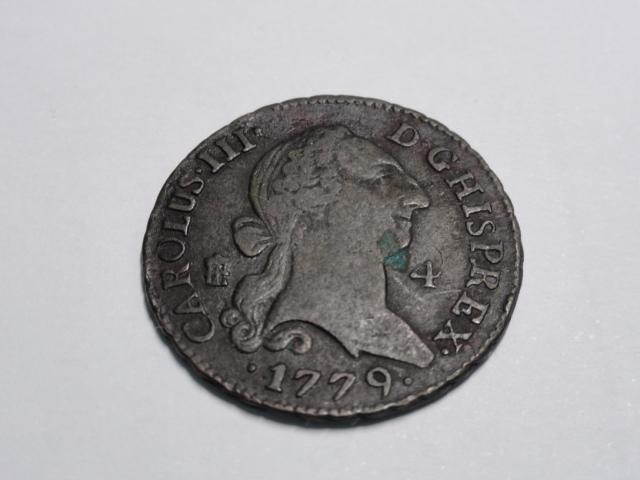 4 maravedís de Carlos III de 1779. Dsc06313