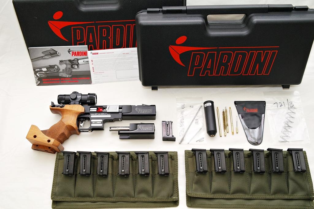 SOLD - Pardini SP Bullseye Like New - 5 and 6 inch barrels, Ultradot, 13 magazines 110