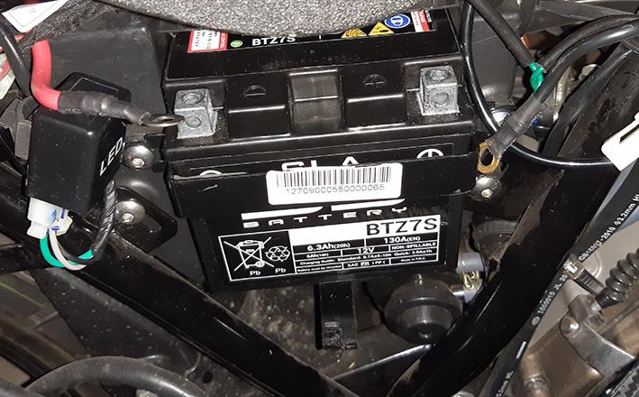Zontes 125 F Batterie 20191210