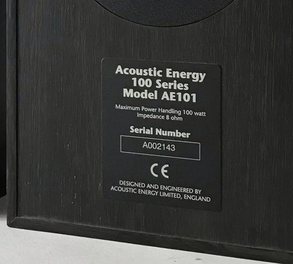 Used Acoustic Energy 5.1 Series 100 Speakers Img_3630