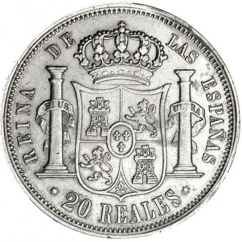 20 Reales Isabel II 1854 Madrid 210
