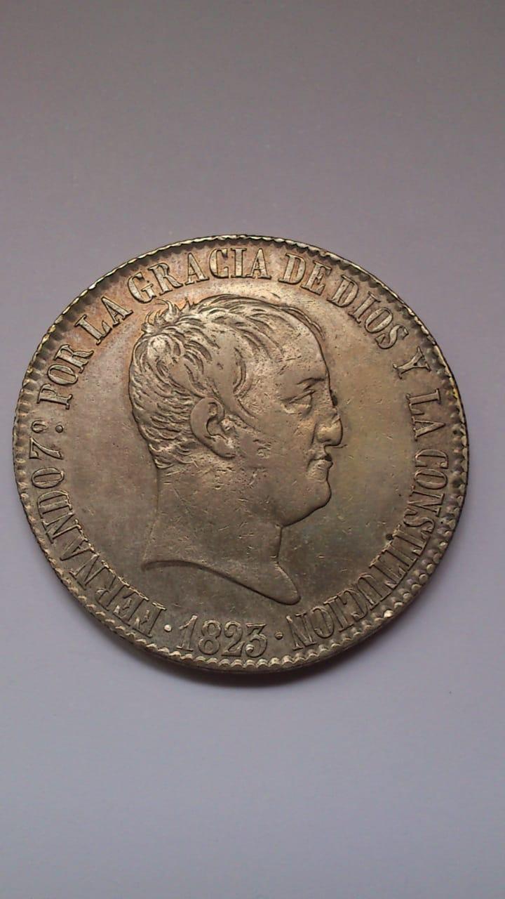 20 reales 1823. Fernando VII. Madrid Photo-10