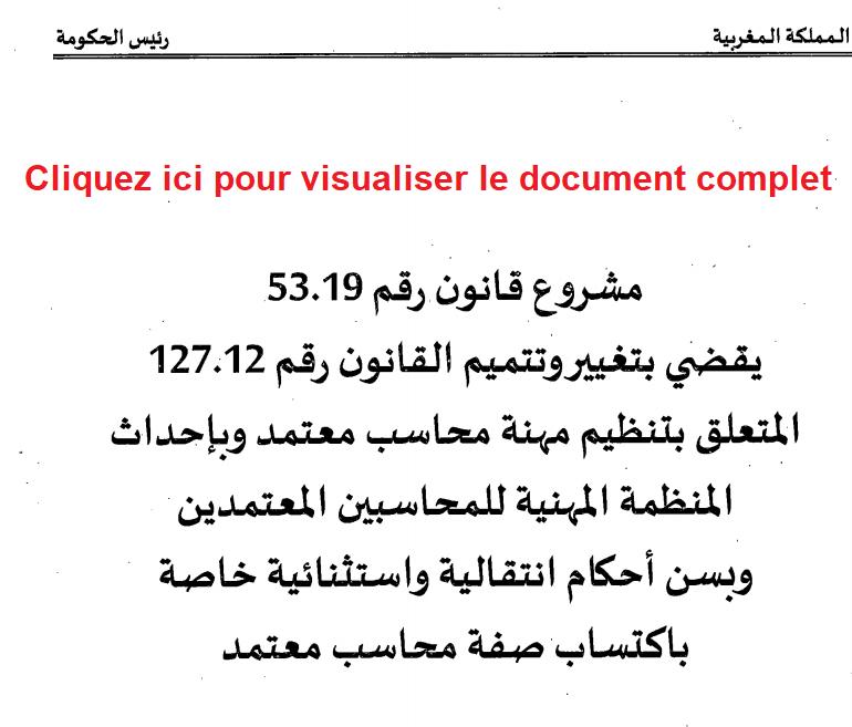 Organisation Professionnelle des Comptables Agréés du Maroc 53-1910