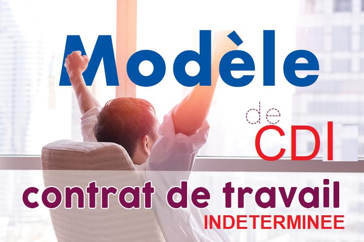 Modéle contrat de travail indeterminée CDI Cdd10