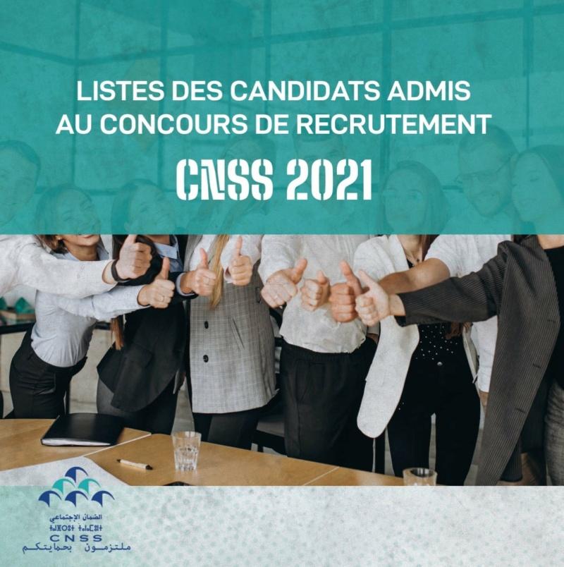 Liste des candidats admis au concours de recrutement CNSS 2021  Cnss2210