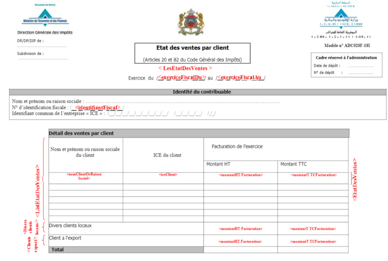 Etat des ventes par clients mode EDI Etat2b10