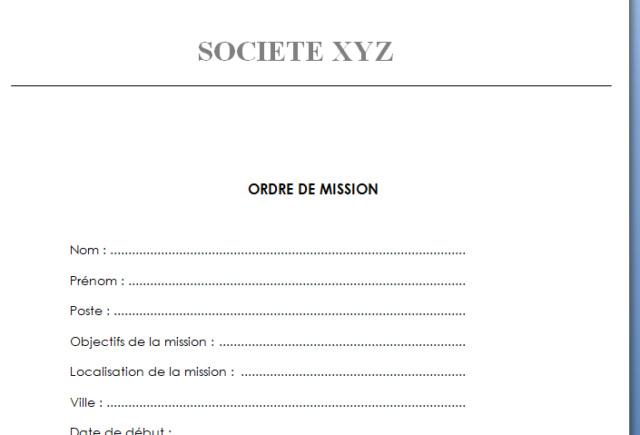 modele - modéle ordre de mission Missio12