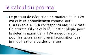 LE CALCUL DE PRORATA DU TVA AVEC DES EXEMPLES APPLIQUEES  Prorat11