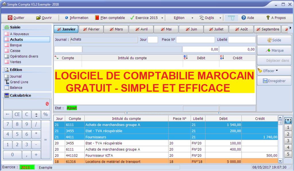 Logiciel de comptabilité marocain Gratuit Simple compta V3.2 Simple10