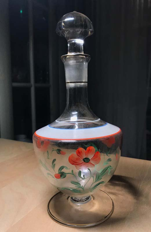 Small carafe with poppy seed flower Img_8810