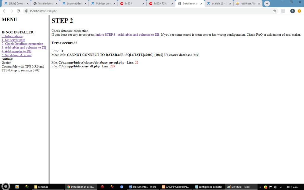 [Problema] error al creat la pagina Sin_tz10