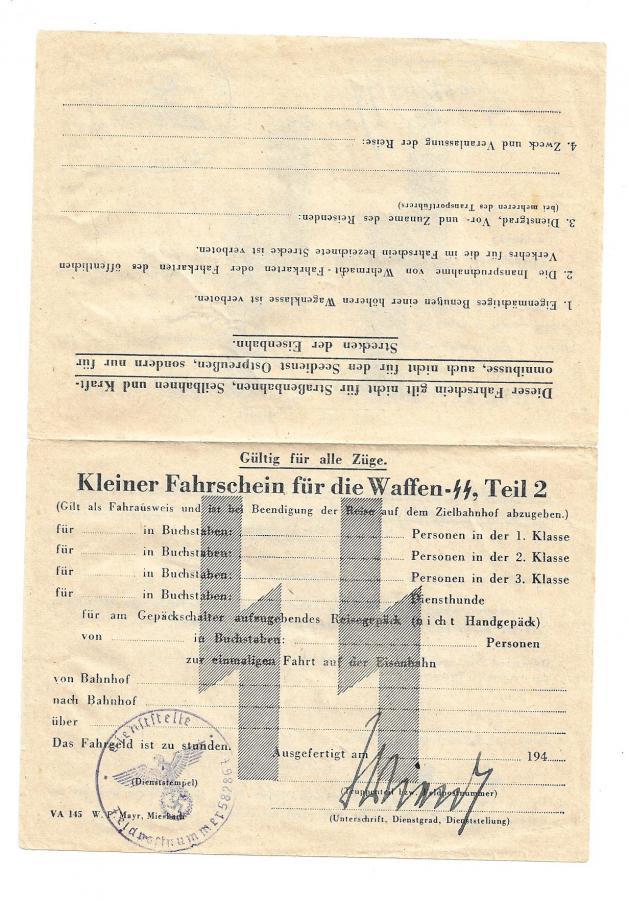 papier  12. SS Div. HJ Fahr210