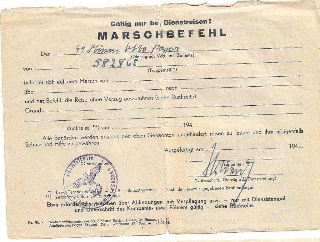 papier  12. SS Div. HJ Marsch10