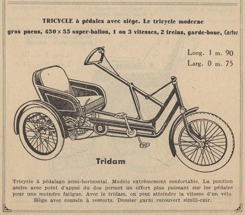 Cherche pièces pour restauration d'un Tricycle Poirier type Tridam A00136