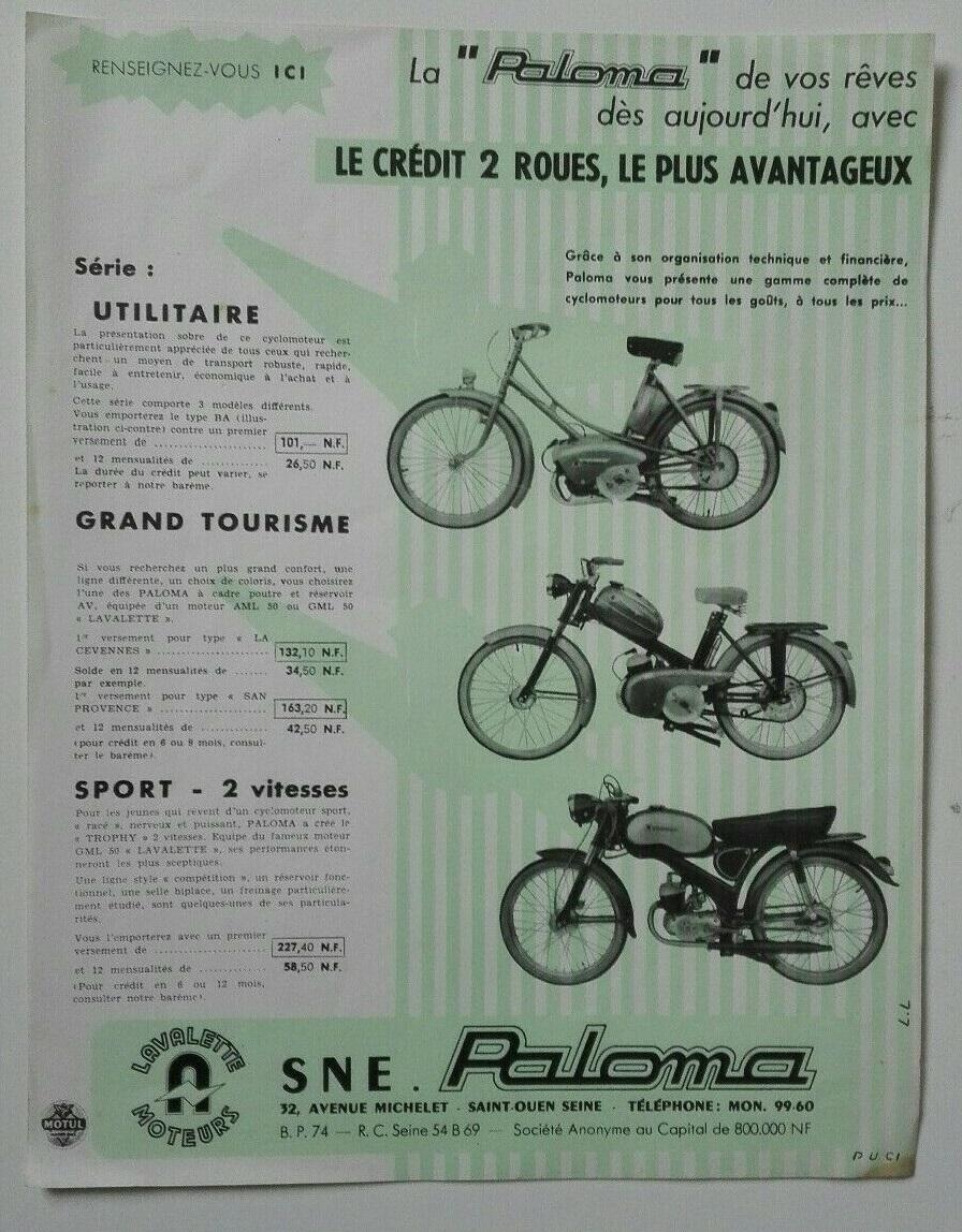 Aide pour connaitre modèle  Paloma41