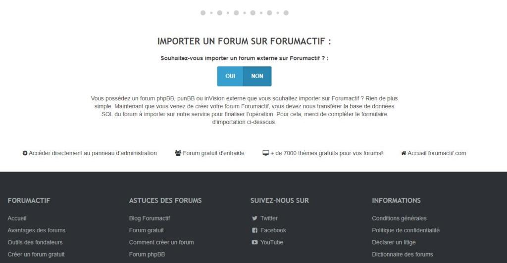 """Importer une sauvegarde d'un forum """"externe"""" Foruma12"""