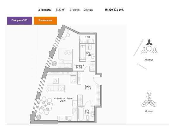 """Планировки квартир в ЖК """"Крылья"""" - полный разбор: что в наличии вообще и что есть сейчас в продаже. Плюсы/минусы - Страница 2 1210"""