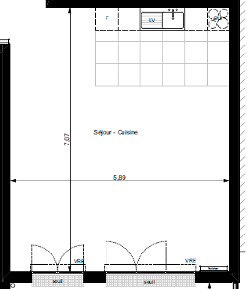 Comment agencer une cuisine ouverte sur un séjour carré Gabrie10