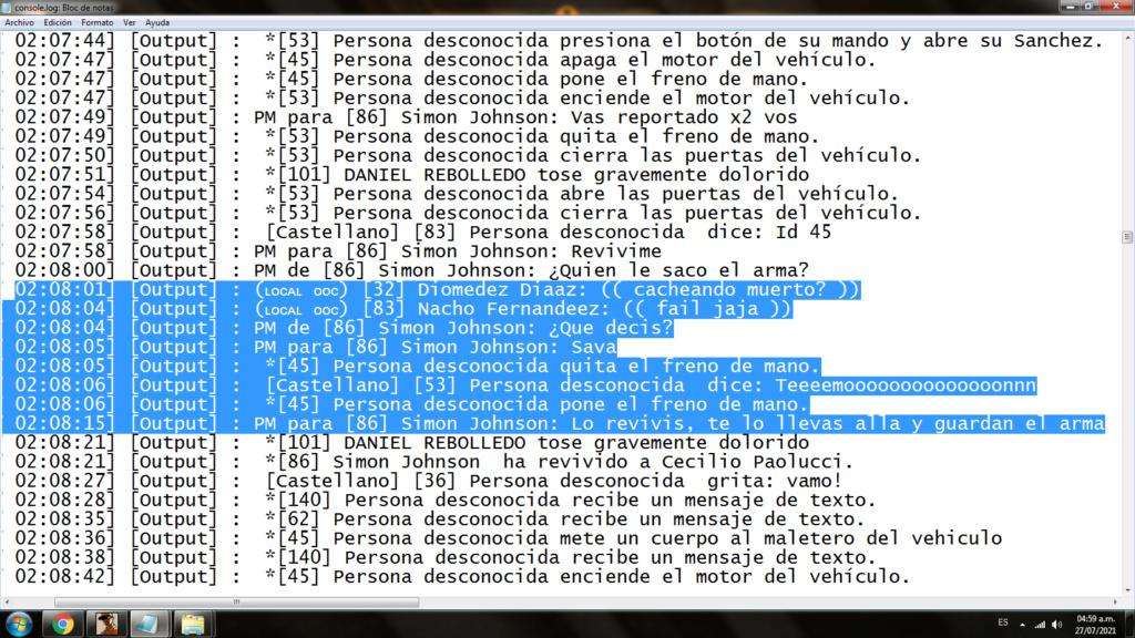 [Reporte]  Cecilio Paolucci (PG y intento de RK) || Jonatan Aguirre (RK, PG, NRA, BA) 213