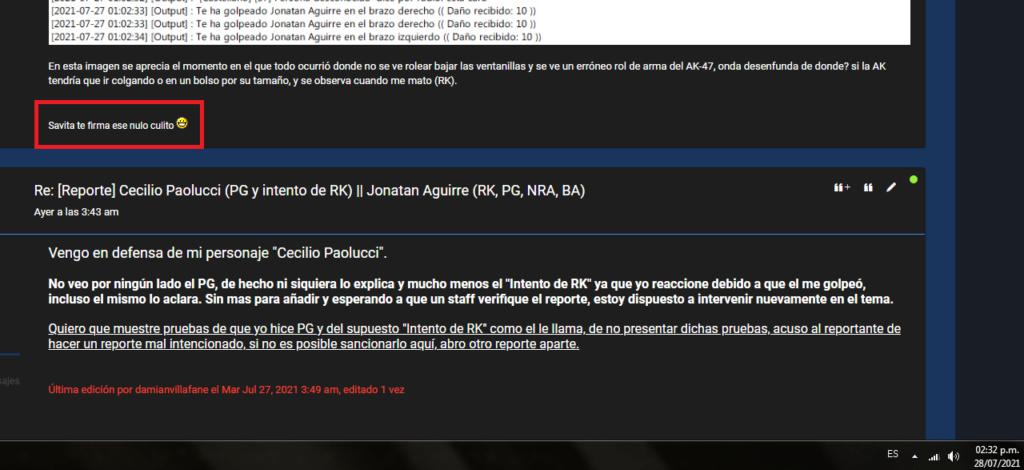 [Reporte]  Cecilio Paolucci (PG y intento de RK) || Jonatan Aguirre (RK, PG, NRA, BA) Sin_tz11