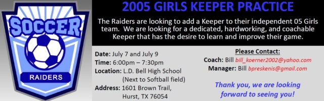 05 Raiders FC - Looking for Keeper 0510