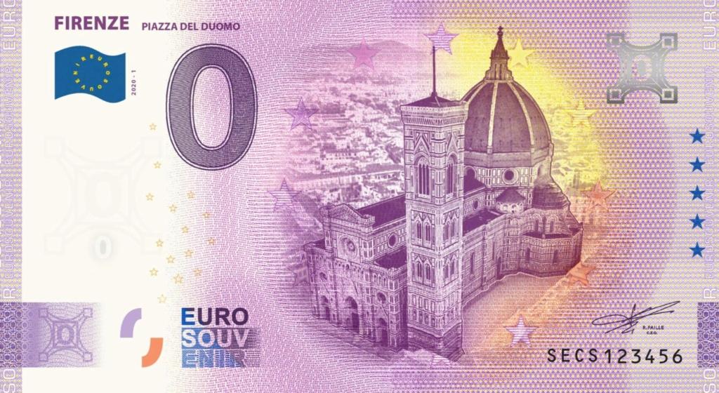Billets Euro Souvenir 2020 Secs10