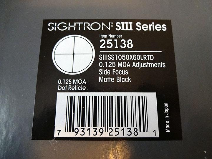 SOLD Sightron SIII SS 10-50x60 LRTD Sightr10