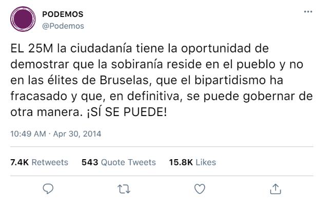 RRSS de Podemos y aliados 30-04-11